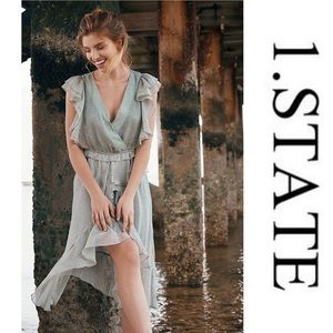 1.State Mosaic Ditsy High/Low Dress